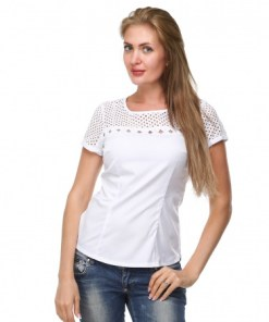 Блуза женская 132121 белый цвет