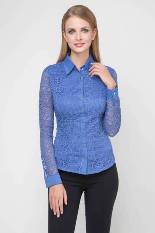Блузка женская 1337 ярко-синий цвет