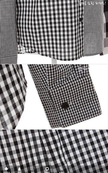 Блузка женская 171705 черно-белая клетка