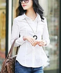 Блузка женская 171707 белый цвет