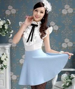 Блуза 171710 молочный цвет