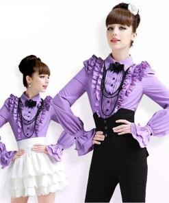 Блузка женская 171717 сиреневый цвет