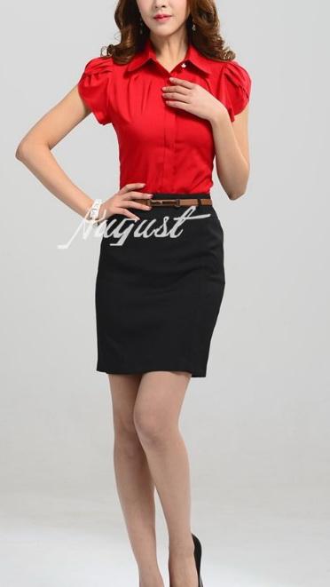 Блузка женская 171718 красный цвет
