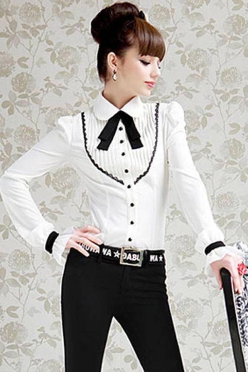 Блузка женская 171720 молочный цвет