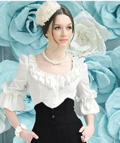 Блузка женская 171723 молочный цвет