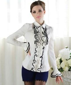 Блузка женская 171725 молочный цвет