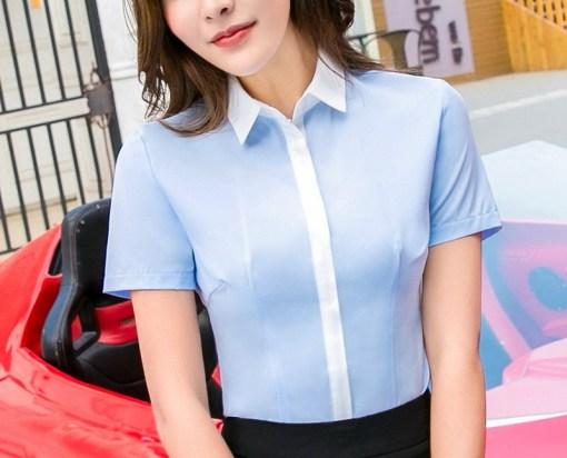 Блузка женская 171740 голубой цвет