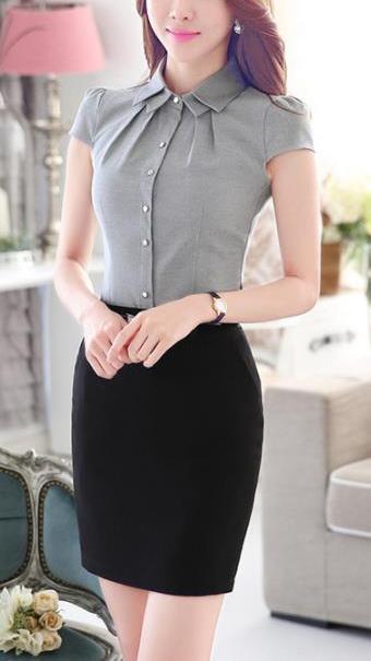 Блуза женская 171743 серый цвет