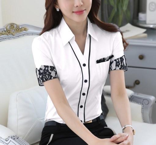 Блузка женская 171753 белый цвет