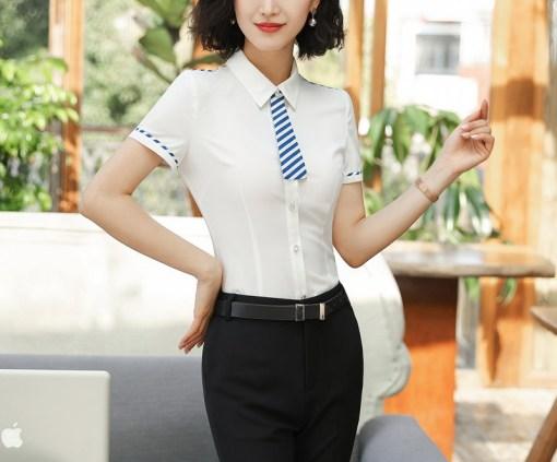 Блузка женская 171764 белый цвет