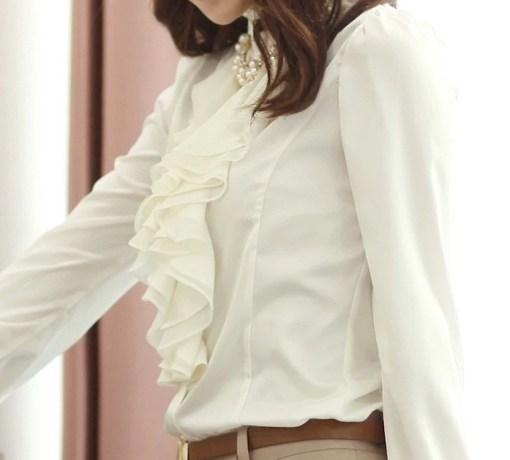 Блузка женская 171765 белый цвет