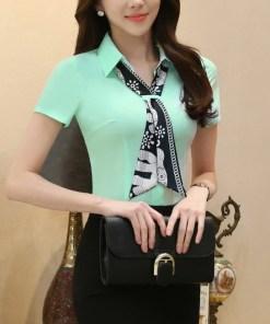 Блуза женская 171768 ментоловый цвет