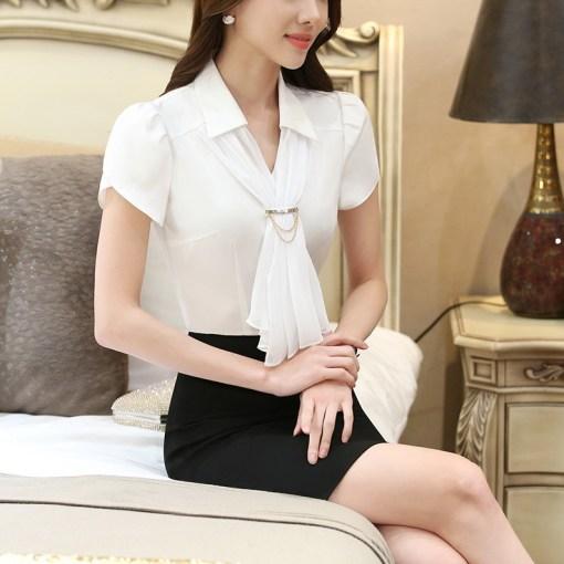 Блуза женская 171769 белый цвет