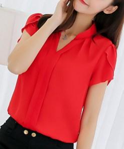 Блуза женская 171770 красный цвет