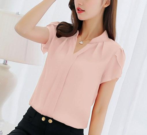 Блуза женская 171770 персиковый цвет