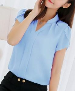 Блуза женская 171770 голубой цвет