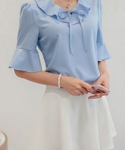 Блуза женская 171776 голубой цвет