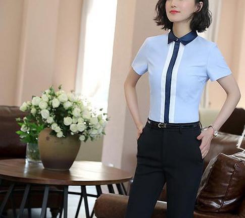 Блузка женская 171777 голубой цвет