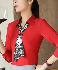 Блузка женская 171779 красный цвет