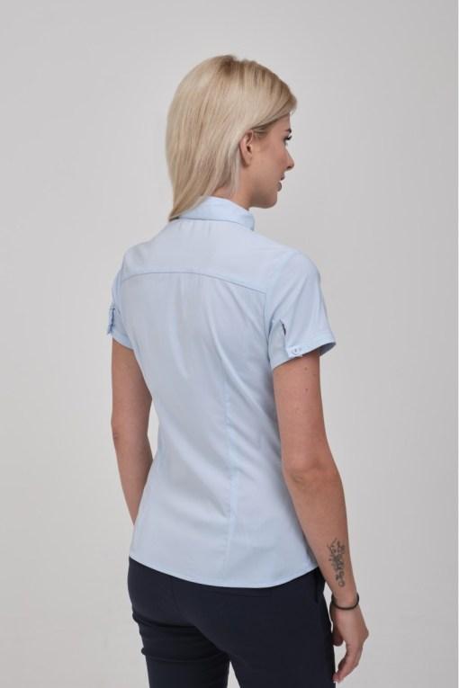 Блузка женская 8195-1 голубой цвет