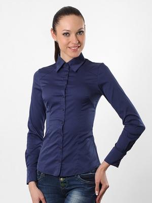 Блузка женская 8195L темно-синий цвет