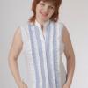Блузка женская Даниэлла бело-голубой цвет
