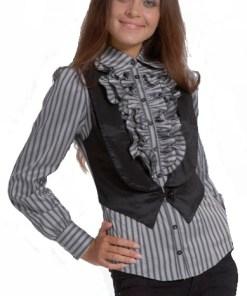 Блузка женская Эльза серый цвет