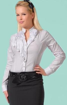 Блузка женская Лилиана белый цвет