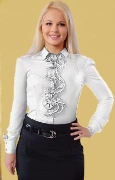 Блузка-боди женская Марсела белый цвет