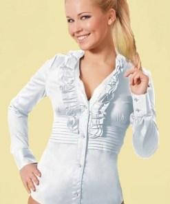 Блузка-боди женская Зара белый цвет