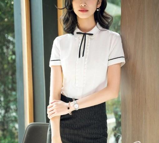 Блузка женская 171790 белый цвет