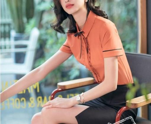 Блузка женская 171790 оранжевый цвет