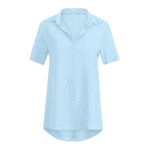 Блузка женская 1717100 голубой цвет