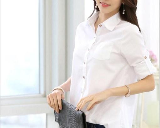 Блузка женская 171796 белый цвет