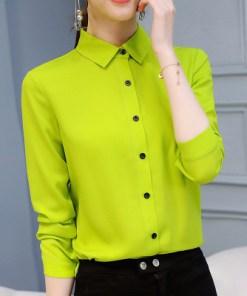 Блузка женская 1717101 лаймовый цвет