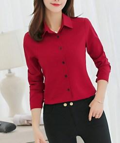 Блузка женская 1717101 бордовый цвет