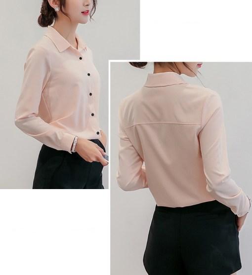 Блузка женская 1717101 пудровый цвет