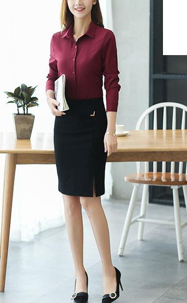 Блузка женская 1717102 бордовый цвет