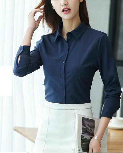 Блузка женская 1717102 синий цвет