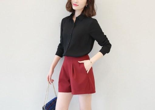 Блузка женская 1717102 черный цвет