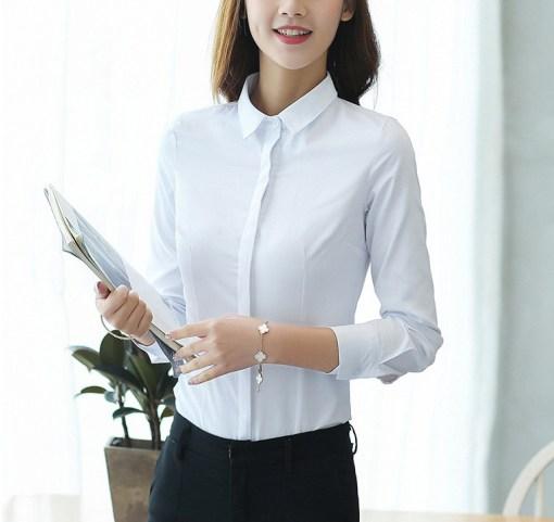 Блузка женская 1717103 белый цвет