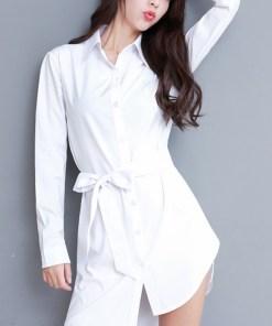 Рубашка женская 1717112 белый цвет