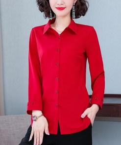 Рубашка женская 1717113 красный цвет