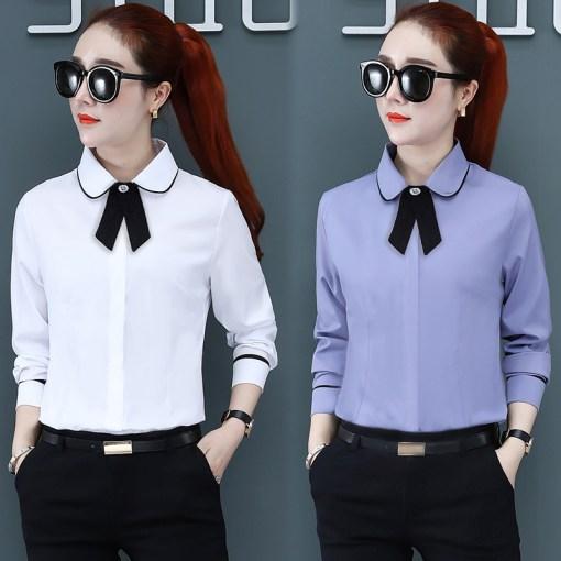 Рубашка женская 1717117 белый цвет