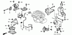 Transmission Rubber Engine Mounts Honda Odyssey Pilot Acura 19992005 35L MDX 50800S0XA04
