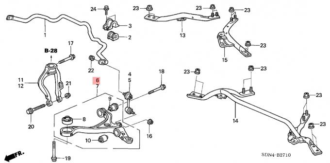 Lower Suspension Control Arm 51350 SDA A03 Honda Accord
