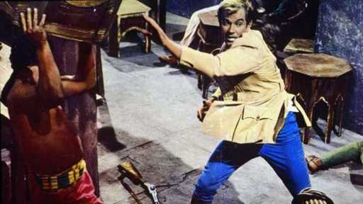 Richard Harrison in a scene from Temple of the Thousand Lights
