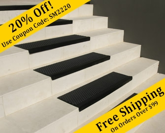 Non Slip Stair Treads Rubber Cal Rubber Mats And Flooring   Exterior Rubber Stair Treads   Self Adhesive   Commercial   Standard Length 48   Carpet Stair   Non Slip