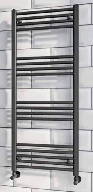Black Bathroom Radiator Ladder Rail 500 X 1200 Signature Mono Collection