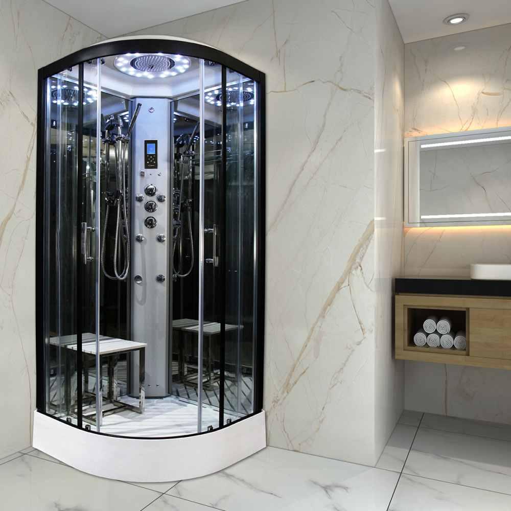 insignia showers pl10 q s platinum steam shower cabin 1000 x 1000mm